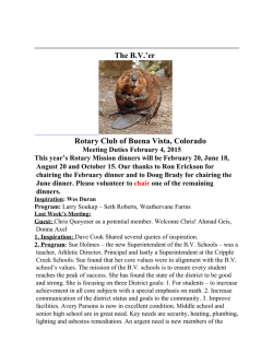 Newsletter - Rotary Club of Buena Vista