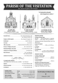 Bulletin- 004 Third Sunday in Ordinary Time January 25, 2014