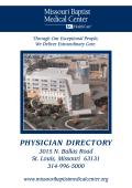 PHYSICIAN DIRECTORY - Missouri Baptist Medical Center