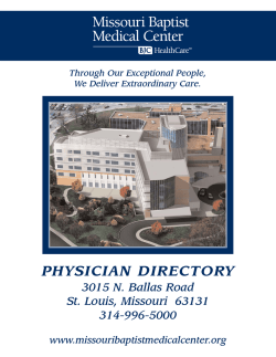 PHYSICIAN DIRECTORY - Missouri Baptist Medical Center