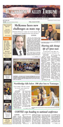 January 30, 2015 - Stonebridge Press and Villager Newspapers