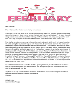 Monthly Newsletter - Riverview Grade School