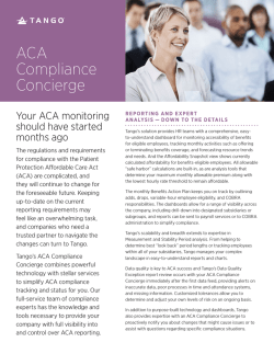 ACA Compliance Concierge