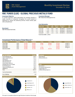 rbc funds (lux) - global precious metals fund