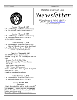 English Newsletter - Buddhist Church of Lodi