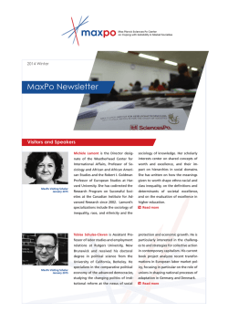 MaxPo Newsletter Winter 2014