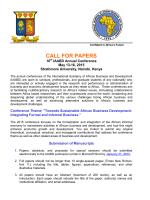 CALL FOR PAPERS - 2015 IAABD Conference in Nairobi