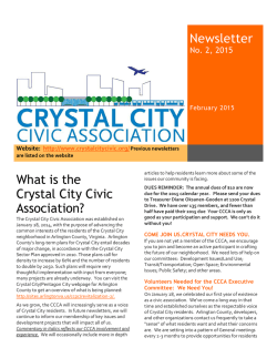 Feb 2015 - Crystal City Civic Association
