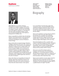 John Harris II bio January 2015