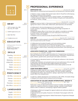 cv + resume - Irving Barcenas