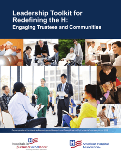 Redefining the H Report w - American Hospital Association