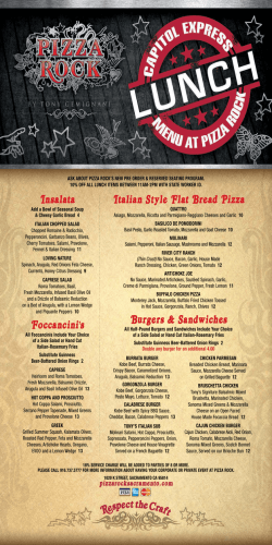 to view full menu () - Pizza Rock Sacramento