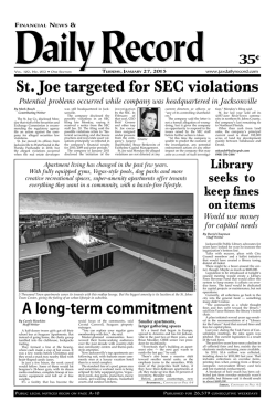 St. Joe targeted for SEC violations