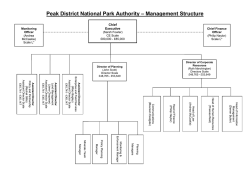 Peak District National Park Authority – Management Structure