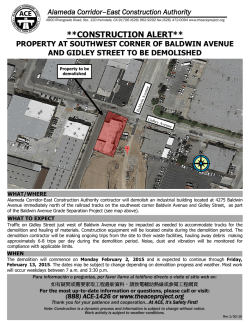 Property at southwest corner of Baldwin Avenue and Gidley Street to