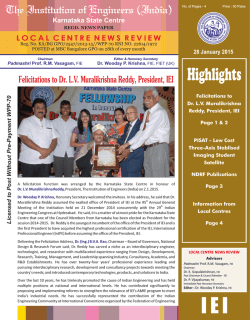 News Letter Jan 15 - Institute of Engineers (India)