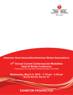 EXHIBITOR PROSPECTUS - American Heart Association