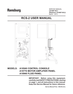 RCS-2 USER MANUAL