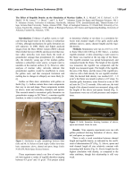 The Effect of Regolith Density on the Simulation of Martian Gullies