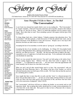 Bulletin - Central Church of Christ