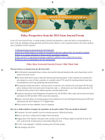 Policy Perspectives from the 2014 Farm Journal Forum