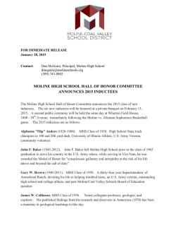 moline high school hall of honor committee announces 2015