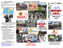 2015 Bicycle Tour Brochure