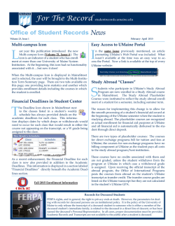 New Issue released 02/02/2015 - Student Records