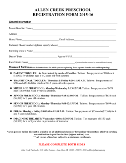 2015-2016 Registration Form