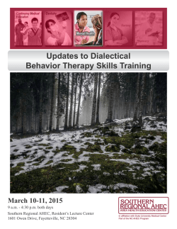 Updates to Dialectical Behavior Therapy Skills Training