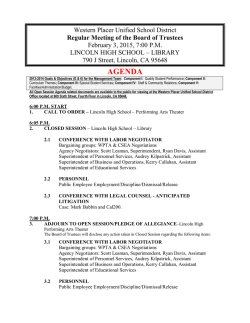 AGENDA - Western Placer Unified School District