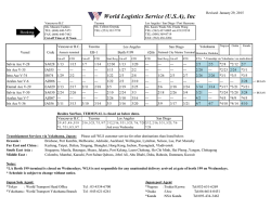 WLS SCHEDULE 012915.xlsx - World Logistics Service