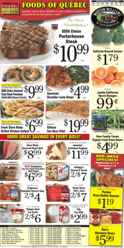 New - Morton Williams Supermarkets!