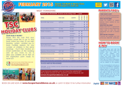 FEBRUARY 2015 HOLIDAY CLUBS