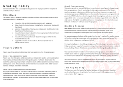Grading Policy - Marrickville Football Club