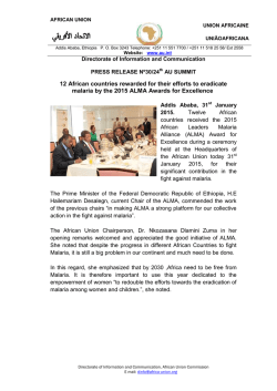 Press Release - African Union