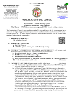 PNC Assembly Agenda 2-4-15 - Palms Neighborhood Council