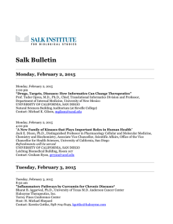 Salk Bulletin - Salk Institute for Biological Studies