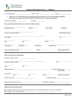 Patient Information Form - Children
