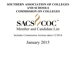 Accredited and Candidate Institution List