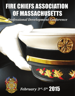 Mass. Fire Chiefs Prof. Development Seminar