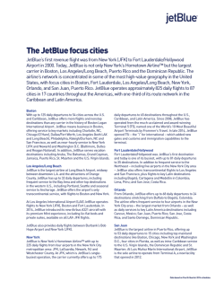 The JetBlue focus cities