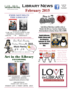 Library News News - South Jefferson Public Library