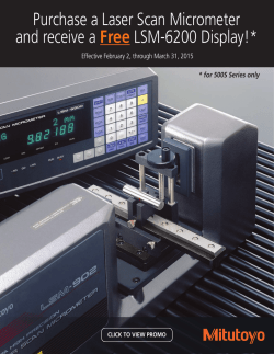 Purchase a Laser Scan Micrometer and receive a Free LSM-6200