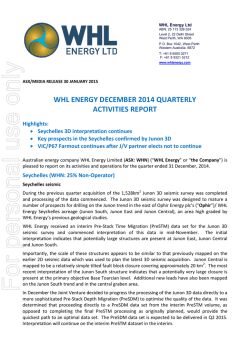 2015.01.30 WHL Energy December 2014 Quarterly Activity Report