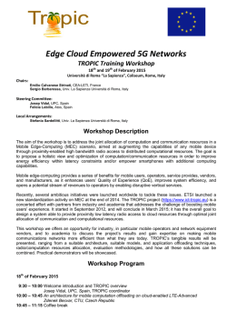 Edge Cloud Empowered 5G Networks