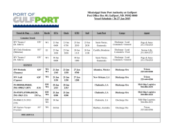 Vessel Schedule - Mississippi State Port of Gulfport