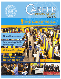 Spring Career Fair Feb 25, 2015