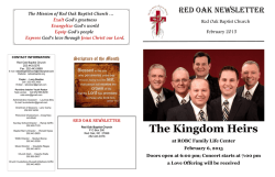 The Kingdom Heirs - Red Oak Baptist Church