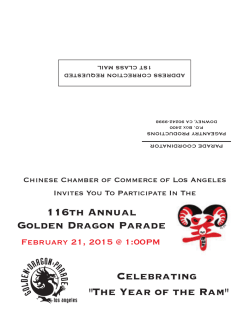 116th Annual Golden Dragon Parade